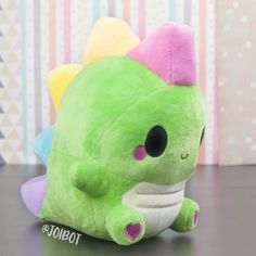 Your place to buy and sell all things handmade - Plushies Cute Stuffed Animals, Dinosaur Stuffed Animal, Sewing Stuffed Animals, Plush Pattern, Cute Pillows, Cute Plush, Squishies, Cute Toys, Minky Fabric