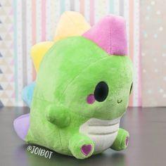 Your place to buy and sell all things handmade - Plushies Cute Stuffed Animals, Dinosaur Stuffed Animal, Plush Pattern, Cute Pillows, Cute Plush, Cute Toys, Kawaii Cute, Kawaii Chibi, Minky Fabric