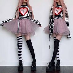Again, my love for checkered things has resurfaced in today's outfit. Again, my love for checkered things has resurfaced in today's outfit. Pastel Goth Outfits, Pastel Goth Fashion, Edgy Outfits, Kawaii Fashion, Grunge Outfits, Cute Fashion, Fashion Outfits, Gothic Fashion, Pastel Goth Style