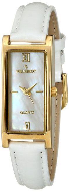 Peugeot Women's 3017WT Analog Display Japanese Quartz White Watch