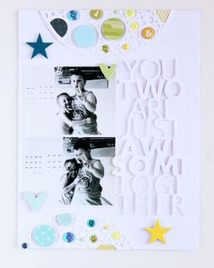 #papercraft #scrapbook #layout Awesome Together by emma_kw at @Studio_Calico