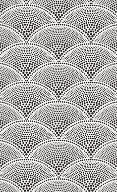 Feather Fan, a soft Asian-inspired geometric wallpaper design by Cole & Son.