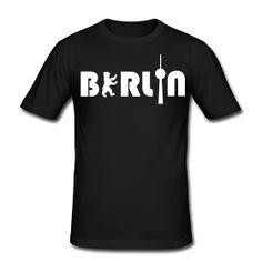 Berlin Men Slimfit T-Shirt - http://iloveberlin.spreadshirt.de/berlin-men-A6201578
