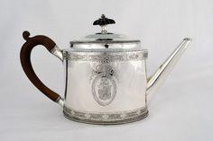 George Iii Hester Bateman Silver Oval Teapot Georgian 18thc Antique Georgian | 434143 | Sellingantiques.co.uk