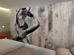 Washable vinyl wallpaper PSYCHE IN LOVE Classic Now Collection by GLAMORA