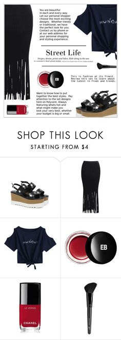 """""""Street Life"""" by shambala-379 ❤ liked on Polyvore featuring H&M, Edward Bess, Chanel, Old Navy, StreetStyle, fringe, streetwear and polyvoreeditorial"""