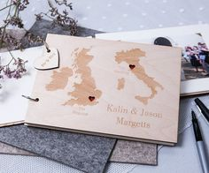 I've just found Personalised Duo Destination Map Guest Book. This wooden map destination guest book is a wonderfully unique way of tracking your journey together. Wooden Map, Embossed Paper, Mr And Mrs Wedding, Couple Gifts, Wedding Guest Book, Party Gifts, Unique Weddings, Mini, Destination Wedding
