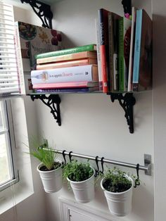 IKEA& Fintorp system is a rail-based organizer of hooks, wire baskets, and metal caddies. There are a plethora of creative ways to use it in your home. Apartment Living, Apartment Therapy, Apartment Plants, Living Room, Fintorp, Kitchen Wall Shelves, Idee Diy, Home And Deco, My New Room