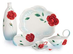 Romance of the Rose Porcelain from Franz Collection