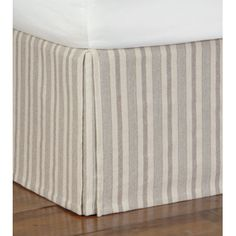 Eastern Accents Breeze Pure Linen Tide Pebble Bed Skirt. fabric idea.