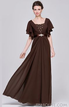 Flowy and elegant. You will surely be the focus in this dress! #motherdress #jjshouse #chiffon #floorlength