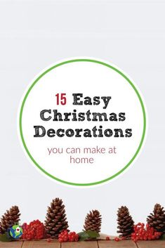 You pulled out all your holiday decorations but never seem to have enough. Rather than spending money on new decorations, try these 15 last minute Christmas decorations. Frugal Christmas, Christmas Bags, Simple Christmas, Christmas Home, Xmas, Recycled Christmas Decorations, Holiday Decorations, Clear Ornament Balls, Mason Jar Lids
