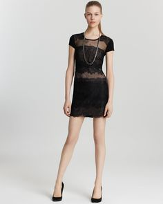 BCBGMAXAZRIA Lace Front Dress - Maiya - Contemporary - Bloomingdale's