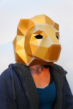 NEED A FANCY DRESS COSTUME? Make your own LION MASK from recycled card with these easy to follow instructions.  I have designed this set of templates and instructions so that you can create your own handsome 3D Low-Poly Lion Mask. The masks are designed to be easy to build so you dont need to be some sort of arts and crafts wizard and the finished masks are robust so should survive the wildest of parties. They are ideal for wearing to festivals, parties and even weddings! Not sure if you…