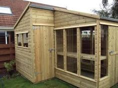 image result for greenhouse potting shed combination