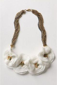 DIY Anthropologie Floral Necklace