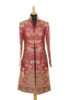 Cashmere Nehru Coat in Moss Rose - £335 #cashmere #coat #fashion #women #shibumi