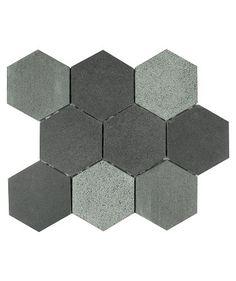 Hexmix™ Basalt Mosaic Tile
