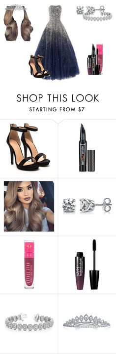 """Lillian Lockstar In ""Once Upon A December"" Music Video"" by shestheman01 ❤ liked on Polyvore featuring Marchesa, Benefit, BERRICLE, Jeffree Star, NYX, Allurez and Bling Jewelry"