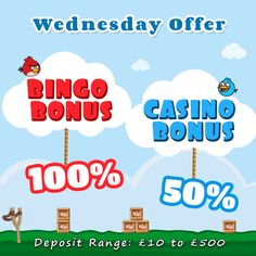 #HappyWednesday  It's time to treat yourself to a mid-week special with our Wednesday #Bonus offer. Deposit £10 on #GameVillage today to win additional #bonuses of your choice. Visit https://www.gamevillage.com/ and deposit now.  Validity: 27th April 2016   Enjoy all your favorite bingo and casino games here https://www.gamevillage.com  For Bonus & Withdrawal Rules visit https://www.gamevillage.com/terms-and-conditions