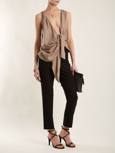 Click here to buy Jacquemus Knot-front wool top at MATCHESFASHION.COM