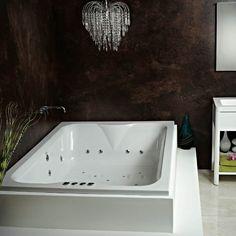 Additional image of Phoenix Marino Amanzonite 1950 x Double Ended Whirlpool Bath Double Bathtub, Large Bathtubs, Bathtub Shower Combo, Shower Taps, Steam Showers Bathroom, Bathrooms, Next Bathroom, Small Bathroom, Full Bath