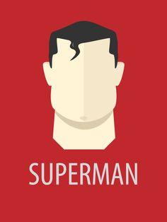 Superman «Minimal Superheroes Author: Peter Magdy»