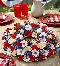 Dress up any table on Independence Day with this patriotic centerpiece!