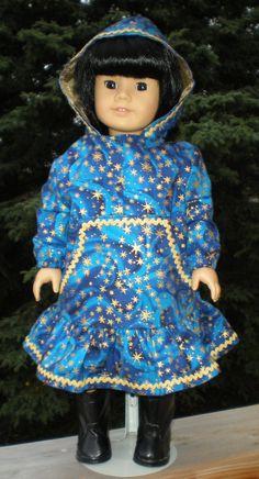 Kuspuk  star swirl by BlueberryMooseBoutiq on Etsy,  ~I love the star pattern on this kuspuk for American Girl Dolls.  ~m