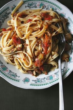 Spicy Vegan Eggplant Pasta ~ Notions & Notations of a Novice Cook