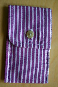 Coin purse from a men's shirt cuff