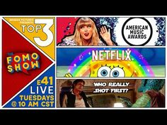 The FOMO Show: Pop Culture & Entertainment Episode 41 - Top 3 Pop Culture Taylor Swift's Music Rights, Nickelodeon/Netflix Team Up, & Who Shot First Broken P. Broken Pictures, First Debate, Taylor Swift Music, Movie Gift, American Music Awards, Have Some Fun, You Youtube, Pop Culture, Netflix