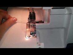 Demarrer une couture a la surjeteuse - YouTube