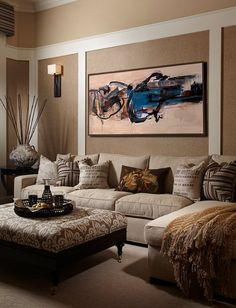 Abstract Painting Large Oil Wall Art Extra Contempor Etsy Pretty Taupe Beige Family Living Room