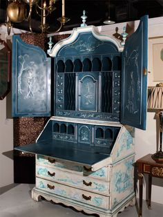Painted Chinoiserie Style Secretary From Greenwich Living Antiques & Design Centre