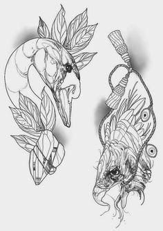 Bird tattoo design.