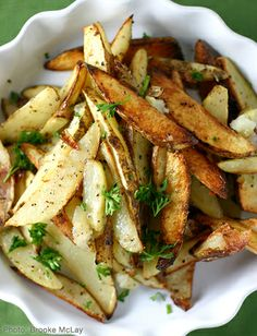 white truffle oil and parmesan fries