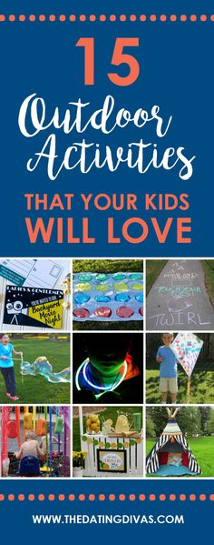 Outdoor Family Fun Ideas- that kids will especially love. Good ideas to help with this summer boredom. lol.