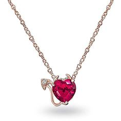 Bling Jewelry Devil In Her Heart ($33) ❤ liked on Polyvore featuring jewelry, necklaces, necklaces pendants, pendant-necklaces, pink, fake jewelry, heart pendant, heart pendant necklace, pink heart pendant and pink heart necklace