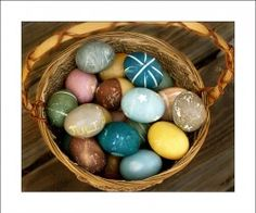 Our naturally-dyed Easter eggs from March 2008