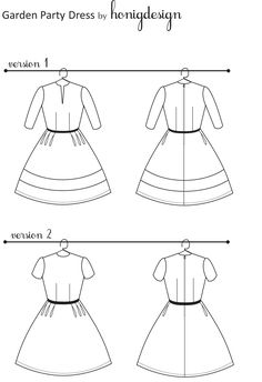 honigdesign: Garden Party Dress Pattern - FREE! Gr. 36-44 (8-16)
