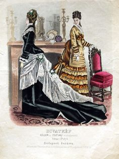 Dresses, 1875 Austria-Hungary (modern-day Hungary), Budapesti Bazárra