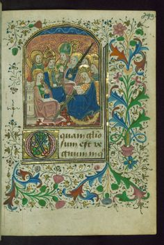 Book of Hours, All Saints, with SS. Barbara, Peter, Catherine, Paul, Andrew, John the Evangelist (?) and a bishop-saint, Walters Manuscript W.186, fol. 293r by Walters Art Museum Illuminated...