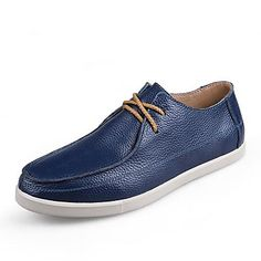 Men's Shoes Comfort Flat Heel Leather Loafers with Lace-up Casual Shoes More Colors available – CAD $ 59.84