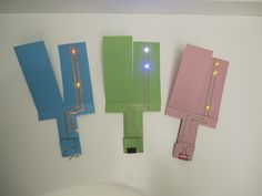 To make this paper helicopter with glowing wings, you will need: LED Circuit Stickers Conductive copper tape Plain card stock, or template (accessible Science Projects For Kids, Science Experiments Kids, Science For Kids, Science Electricity, Electrical Projects, Preschool Science, Crafts To Make, Light Up, Card Stock
