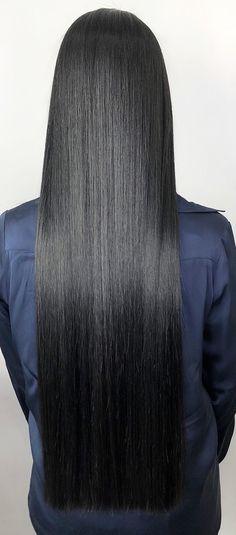 Long Dark Hair, Very Long Hair, Braids For Long Hair, Wig Hairstyles, Straight Hairstyles, Strait Hair, Beautiful Black Hair, Rapunzel Hair, Hair Flow