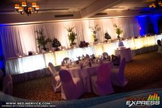 Head Table Under Table Lighting www.sedjny.com