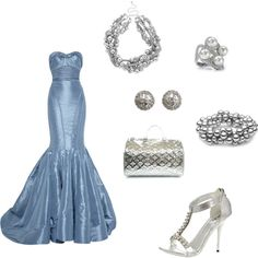 Blue Barbie, created by doorite on Polyvore