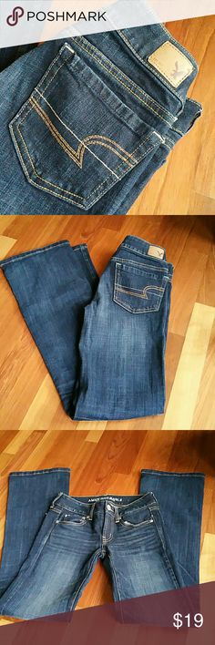 AEO Jeans Really nice!  Dark blue wash. American Eagle Outfitters Jeans Boot Cut