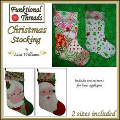 Funktional Threads Christmas Stocking - in 2 sizes | YouCanMakeThis.com